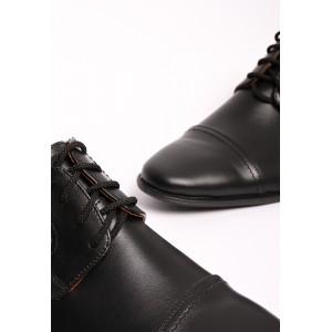 Мужские классические кожаные черные туфли