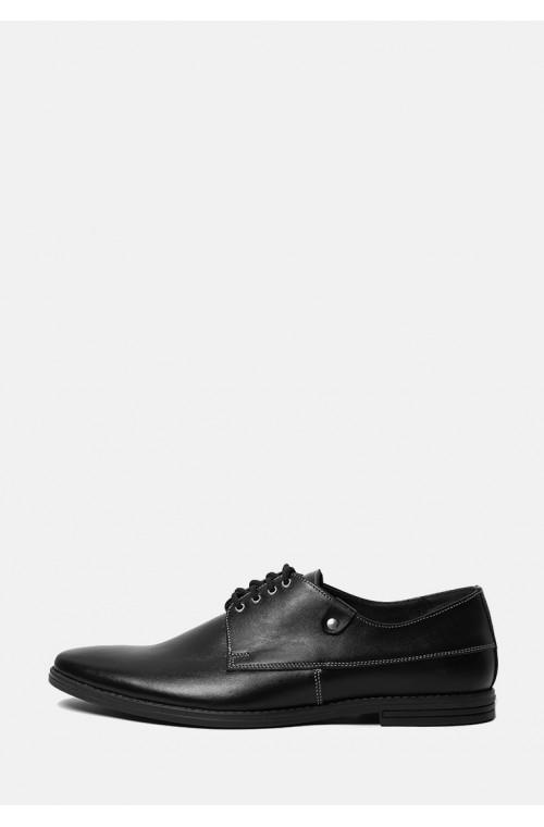 Кожаные черные мужские туфли