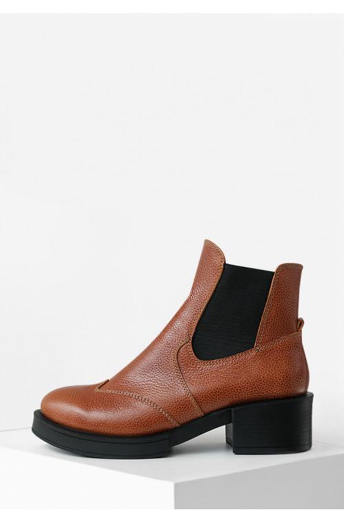 Рыжие демисезонные ботинки