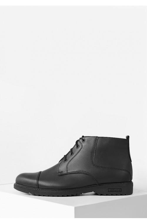 Зимние классические мужские ботинки из натуральной кожи