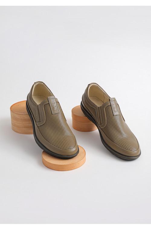 Мужские классические кожаные летние туфли