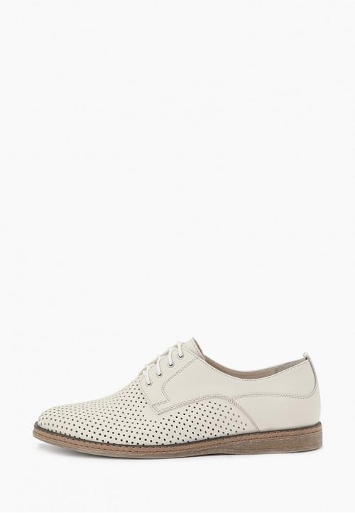 Классические кожаные мужские туфли бежевого цвета