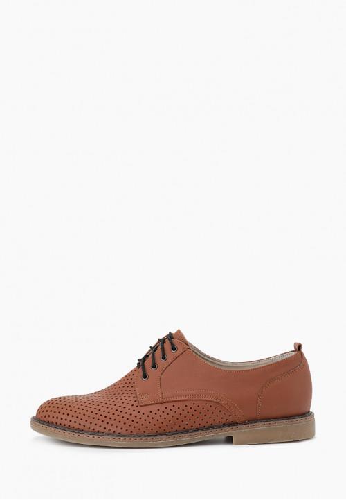 Стильные коричневые мужские туфли из натуральной кожи