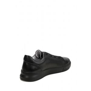 Кожаные черные кеды для мужчин из натуральных материалов