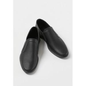 Черные мужские туфли из натуральной кожи