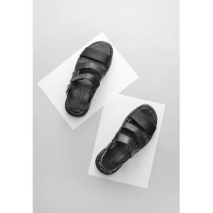 Черные мужские сандали на пряжках