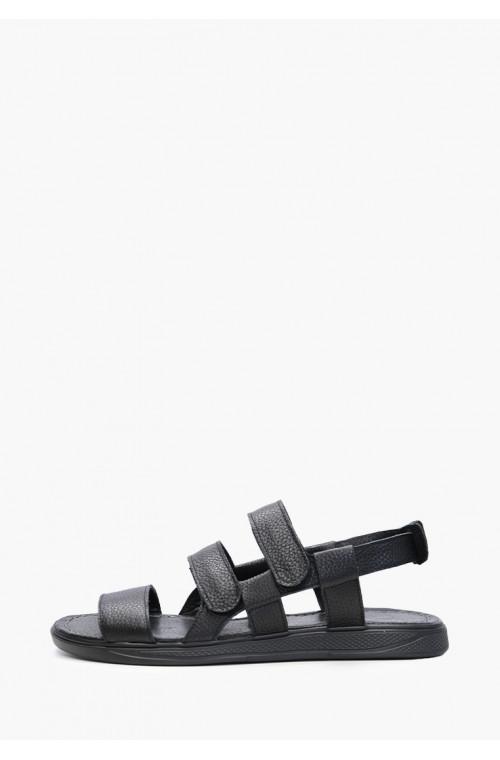 Мужские черные сандали из натуральной кожи