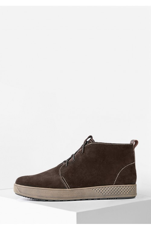 Мужские замшевые ботинки на байке
