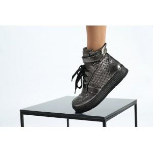 Блестящие ботинки из натуральной кожи