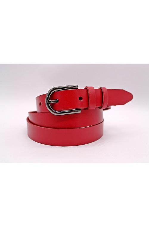 Кожаный красный ремень