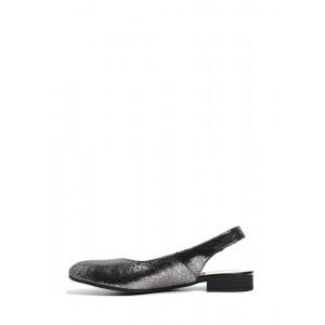 Легкие кожаные темные босоножки с закрытым носком
