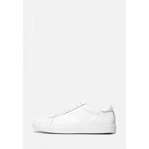 Белые кожаные мужские кеды