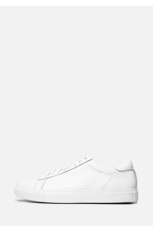 Базовые белые кожаные мужские кеды