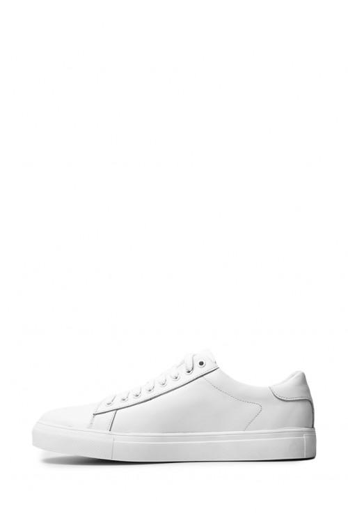 Классические мужские белые кожаные кеды