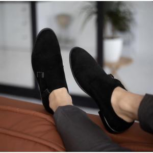 Мужские замшевые туфли с пряжками