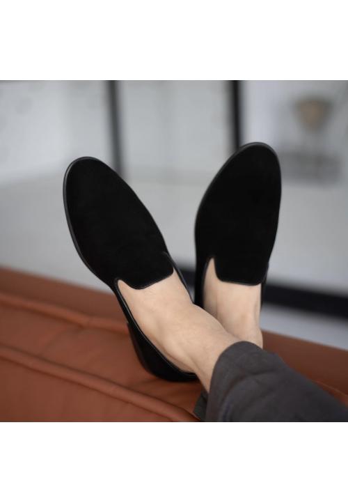 Мужские замшевые стильные туфли без шнурков