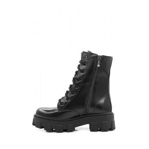 Высокие кожаные ботинки на платформе