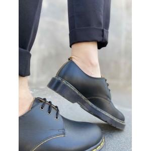 Черные туфли дерби из матовой кожи