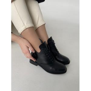 Зимние короткие ботинки из натуральной кожи