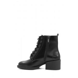 Зимние ботинки на небольшом широком каблуке