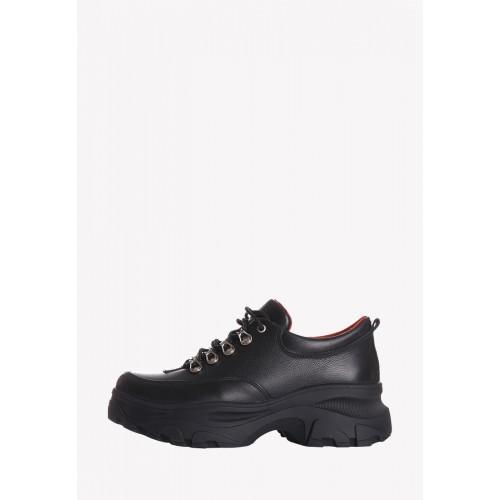 Туфли из натуральной кожи на высокой платформе