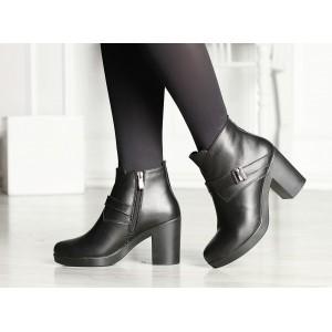 Купить женские короткие кожаные  ботинки