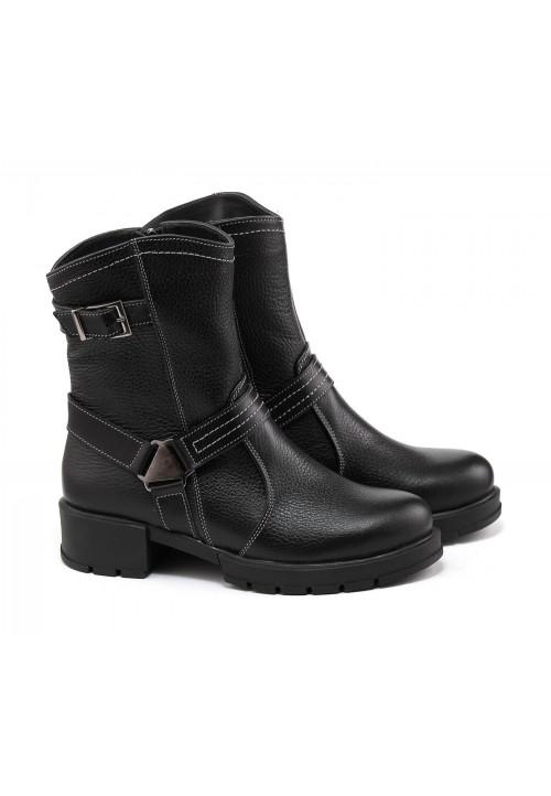 Купить зимние ботинки на низком каблуке