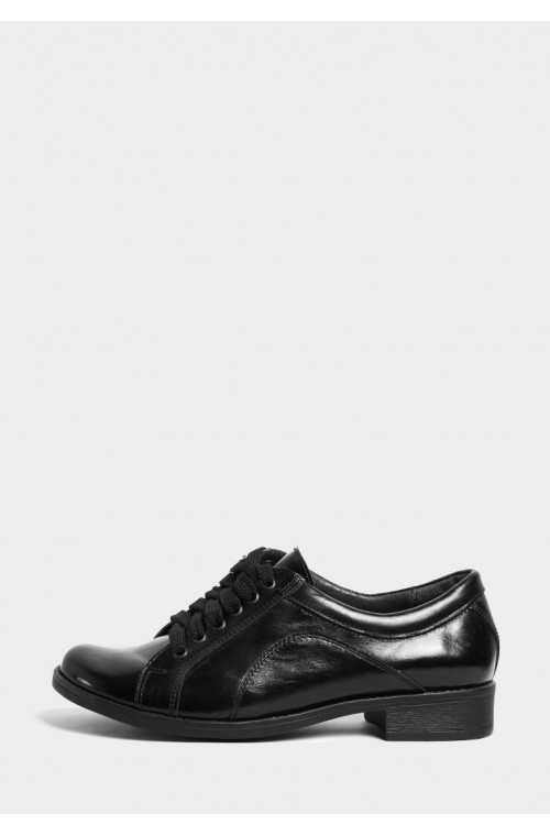 Лаковые туфли на низком ходу