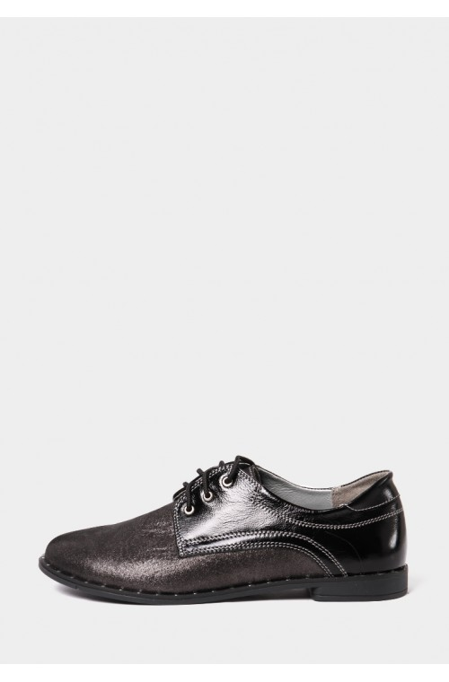 Туфли на низком ходу в никеле
