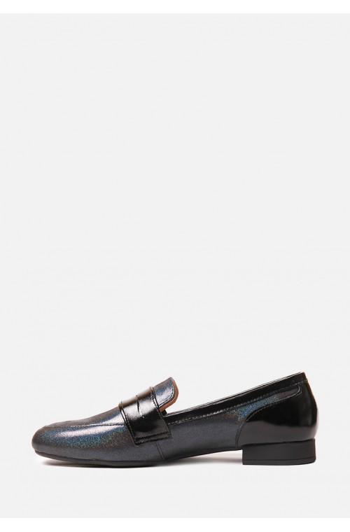 Кожаные туфли на низком ходу