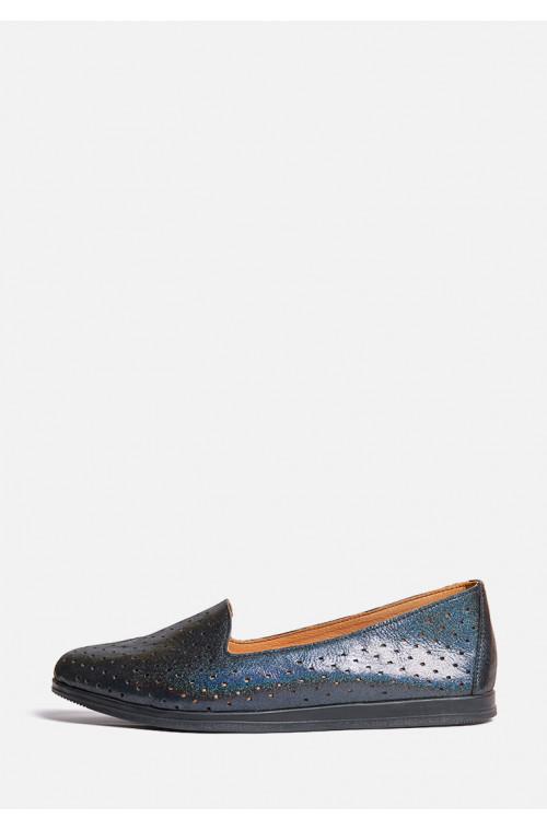 Кожаные легкие туфли с перфорацией