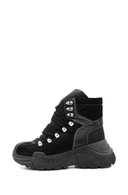 Теплые зимние ботинки из натуральных материалов