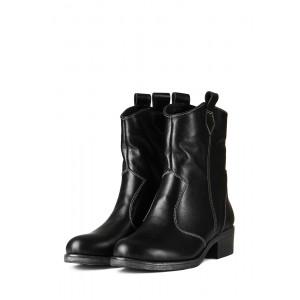 Зимние кожаные широкие ботинки