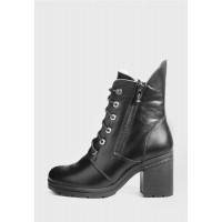 Ботинки с двумя молниями и шнурками на каблуке