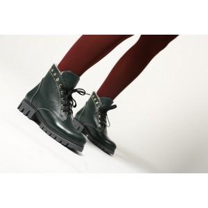 Зеленые зимние ботинки