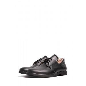 Черные классические кожаные туфли