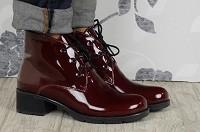 ботинки бордового цвета, бордо, женские ботинки бордо